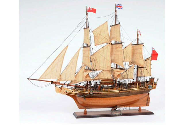 HMS Bounty Tall Ship Model
