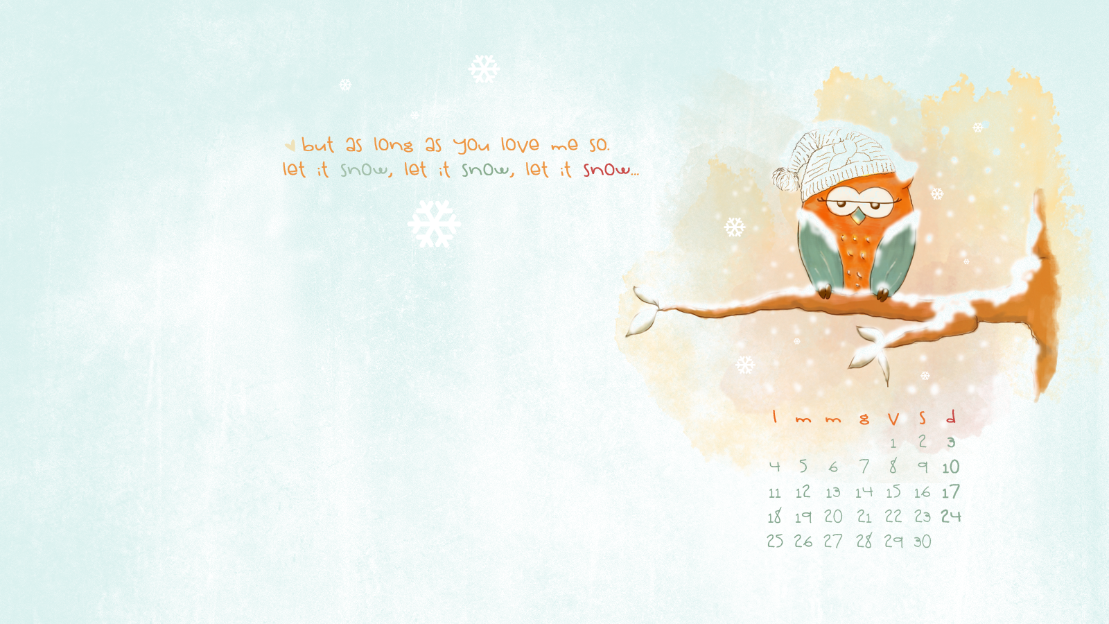 Free download: sfondo desktop novembre con calendario