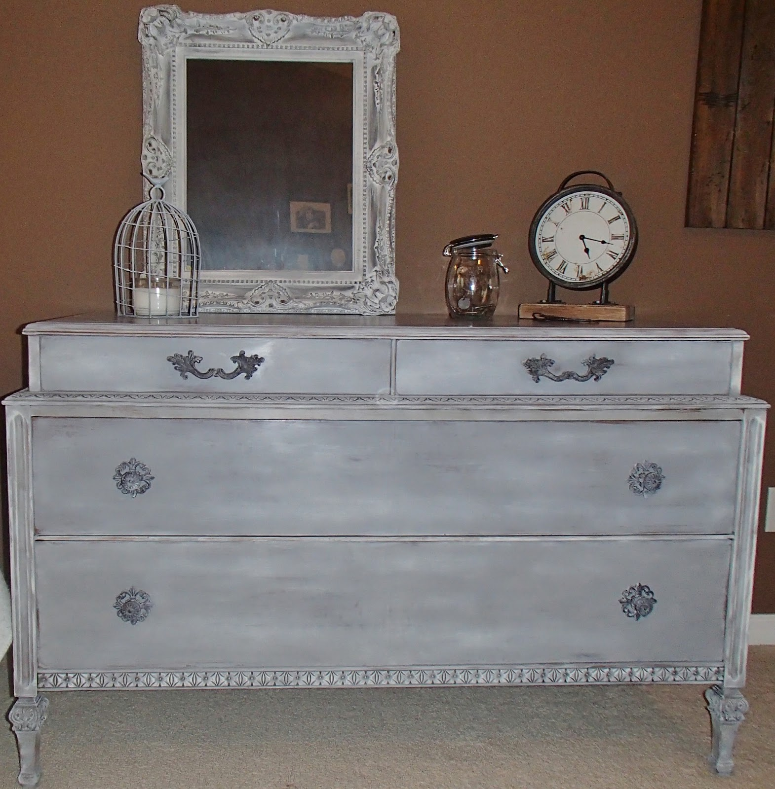 Weathered French Grey Dresser