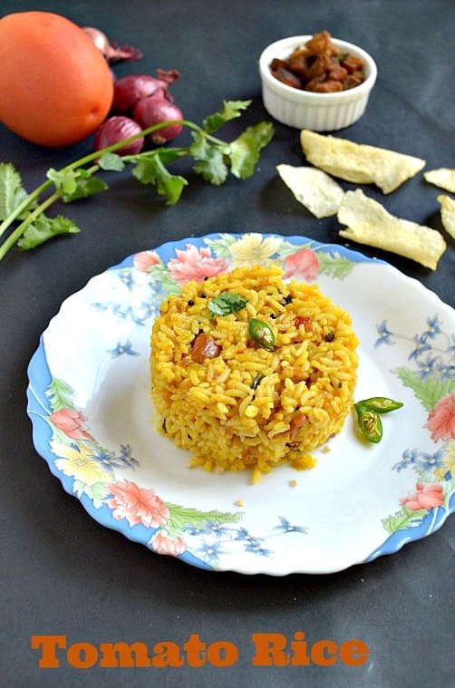 Tomato rice from leftover rice for vegan thursday naliniskitchen here i used the leftover rice which i made for lunchif you want you can use the cooked basmathi rice to make it more flavorfullets get into the recipe ccuart Choice Image
