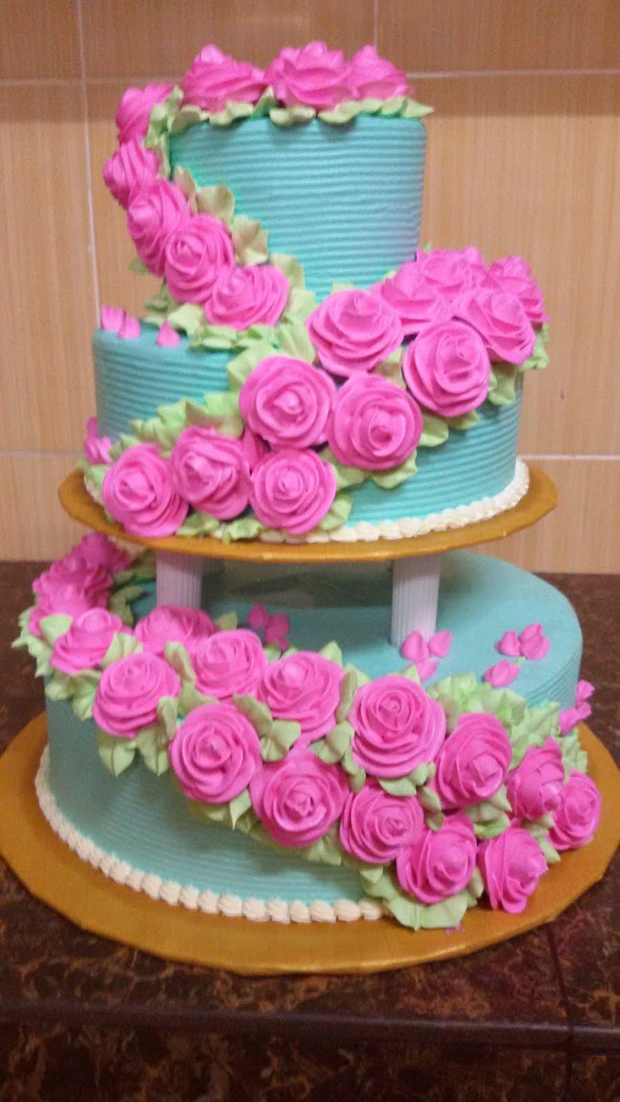 wedding 3tiers cake