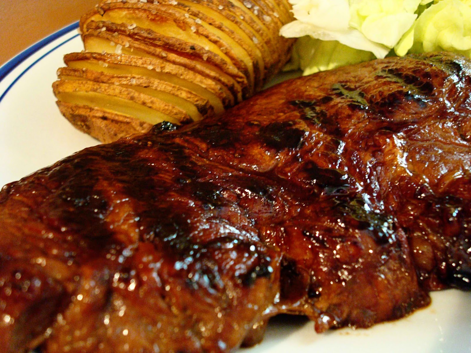 Succulent Steak And Hasselback Potatoes Recipe Good Diet Food For