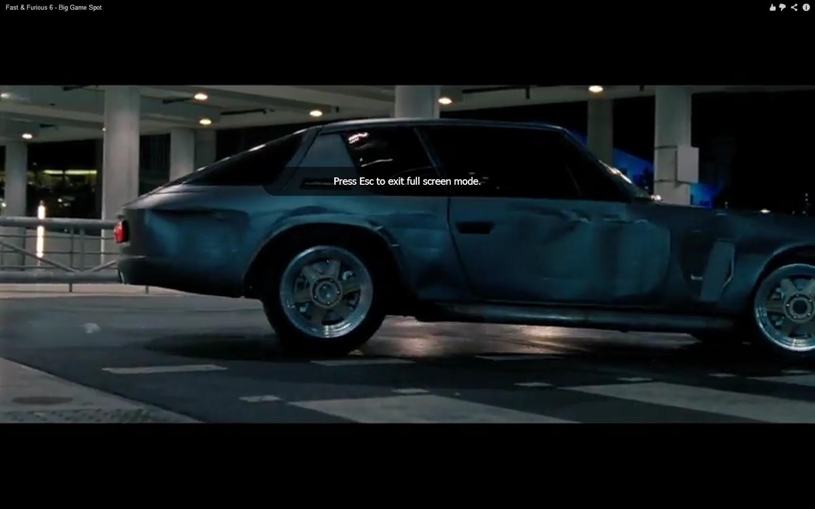 Jensen Interceptor in Fast & Furious 6 Trailer?