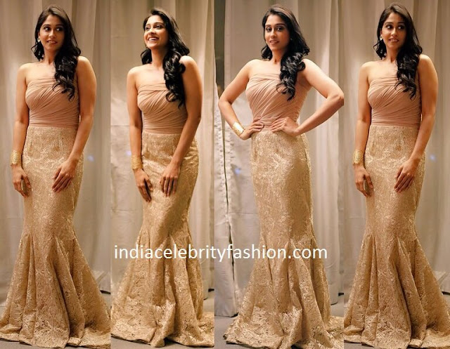 Regina Cassandra in Lace Gown