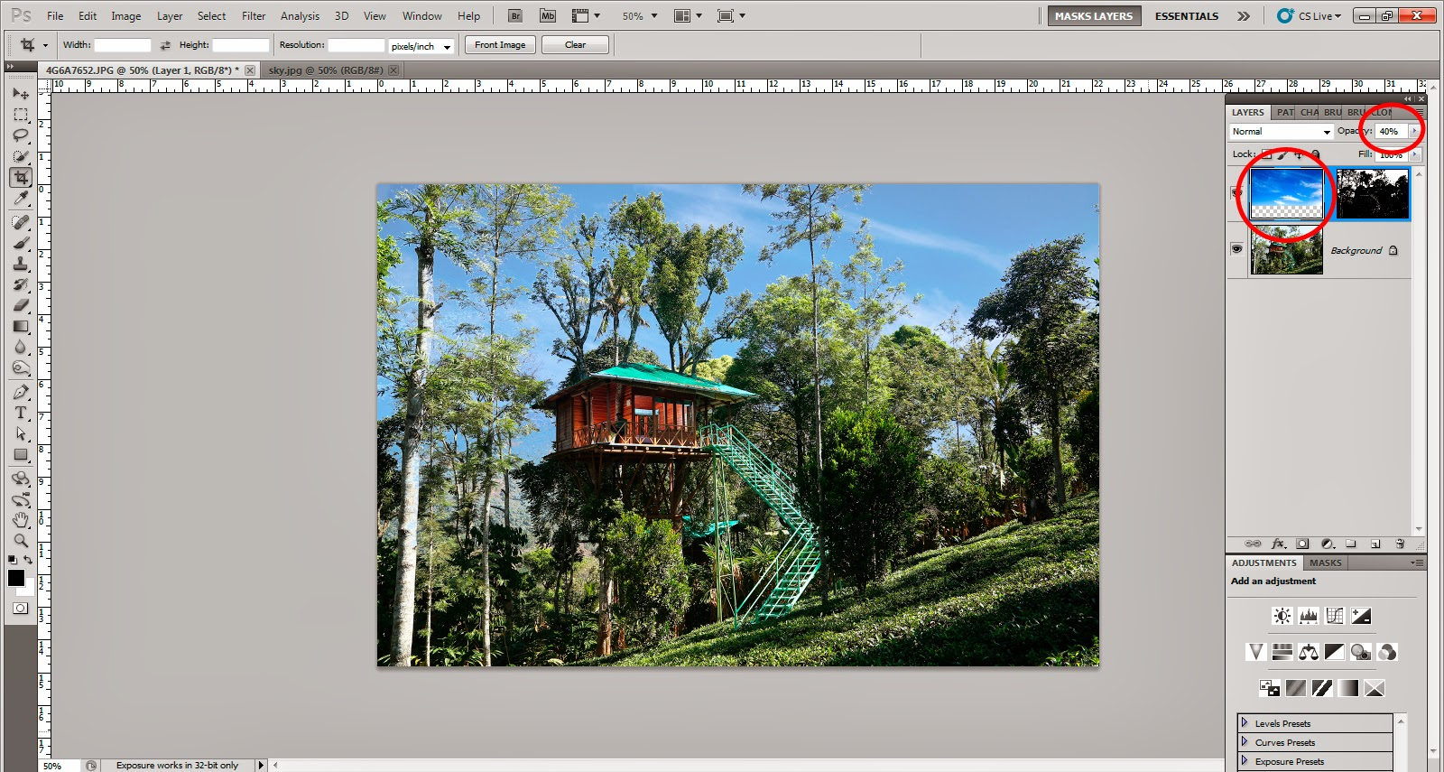 how to replace sky in photoshop