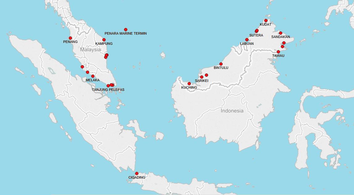 PORTS IN MALAYSIA