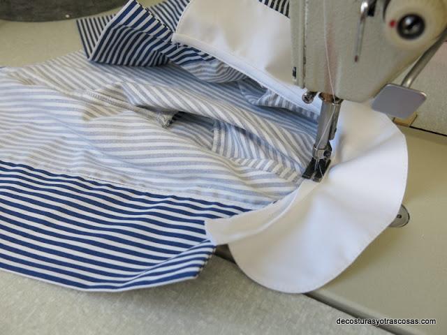como coser cuello blusa infantil