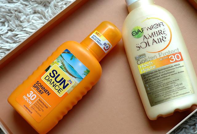 Aufgebraucht 2015 Sun Dance Sonnenspray und Garnier Sonnenmilch