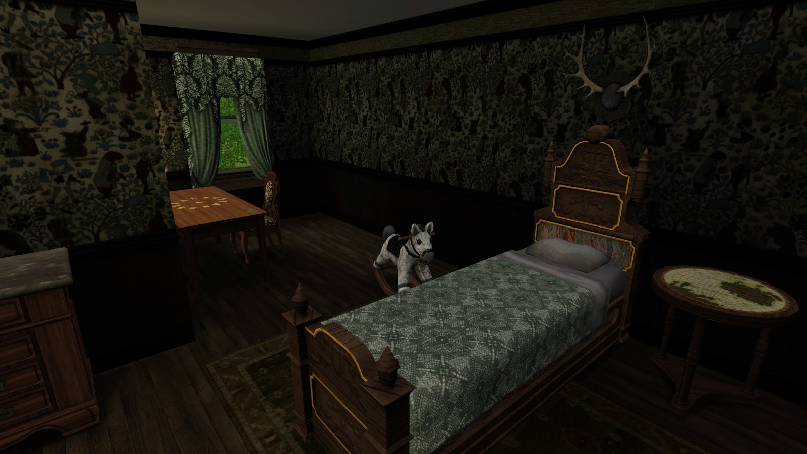 Spooky room for kids with spooky room for Raton pass motor inn