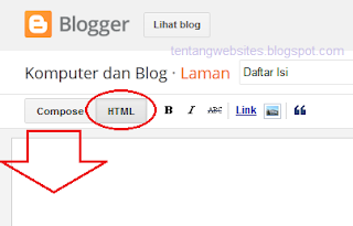 Cara memasang alat parse kode html pada blog