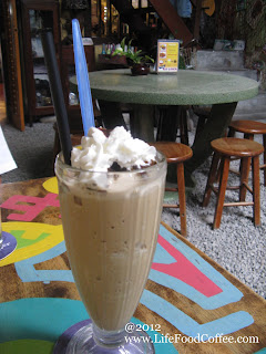 Ice blended Melaka Coffee from Calanthe cafe