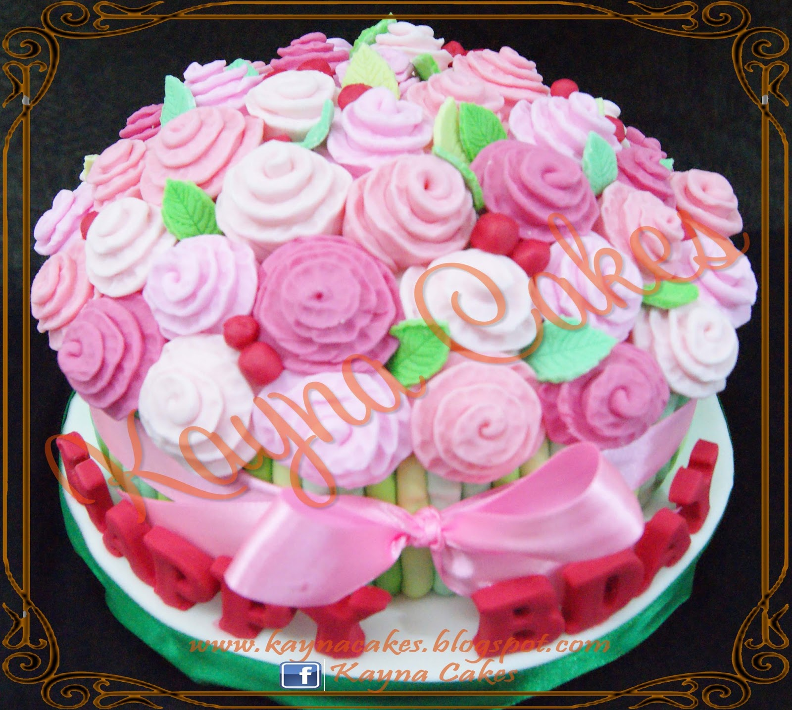 Kayna cakes and cupcakes mommies bouquet of roses cake izmirmasajfo