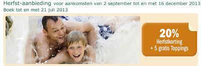 www.centerparcs.nl/ju4544 20% herfstkorting en 5 toppings www.centerparcs.be/840