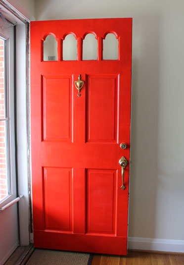 Open Front Door From Inside family | love | home: painted front door reveal