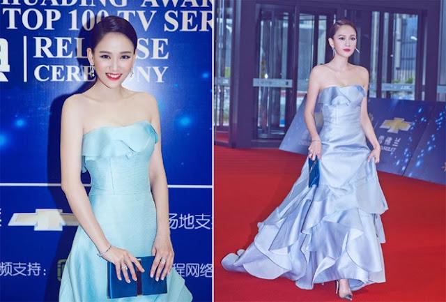 Sở hữu bờ vai thon nhỏ, ngôi sao Đài Loan thường diện những bộ váy giúp khoe ưu điểm này. Người đẹp 36 tuổi diện đầm bèo nhún của Carolina Herrera dự một lễ trao giải gần đây.