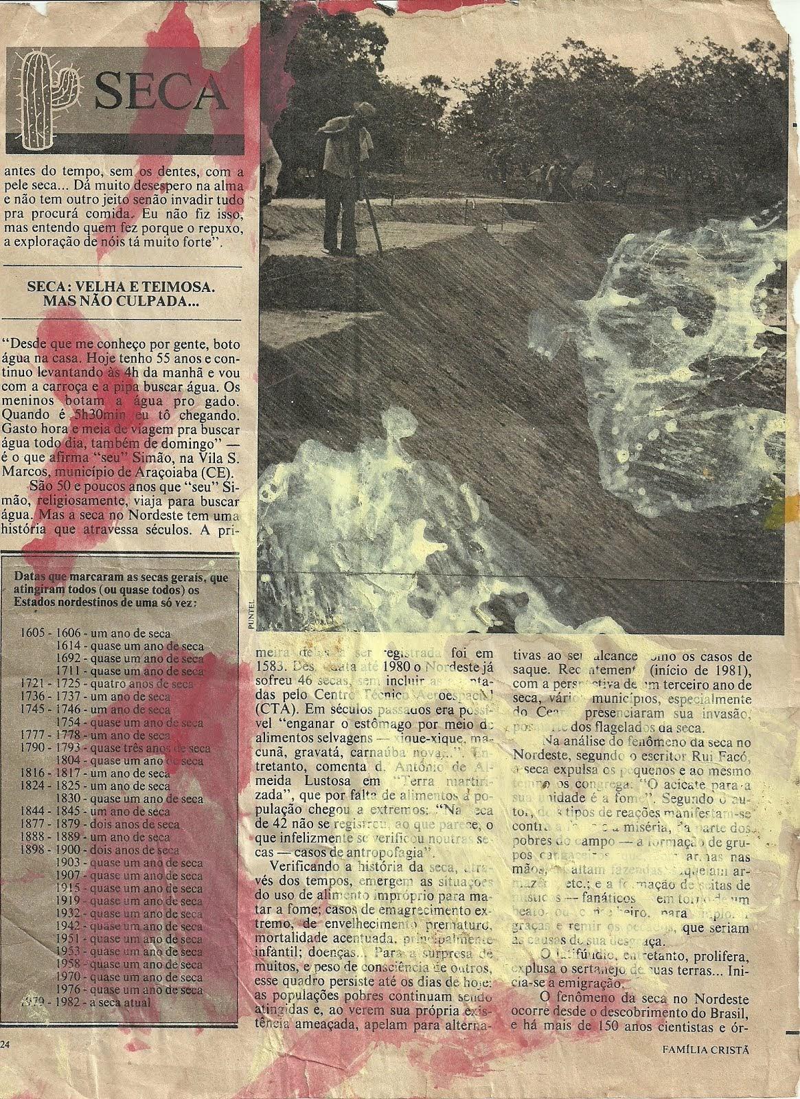 153  GRANDES  SECAS ARRAZADORAS  NO BRASIL NOS  SEUS  1565 ANOS  DE DESCOBRIMENTO