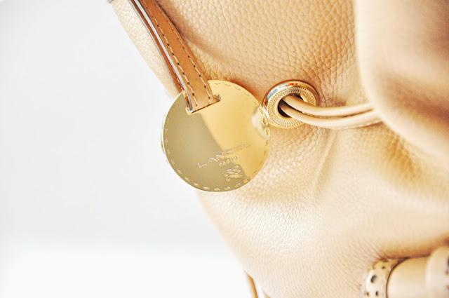 бежевая сумка lancel premier flirt