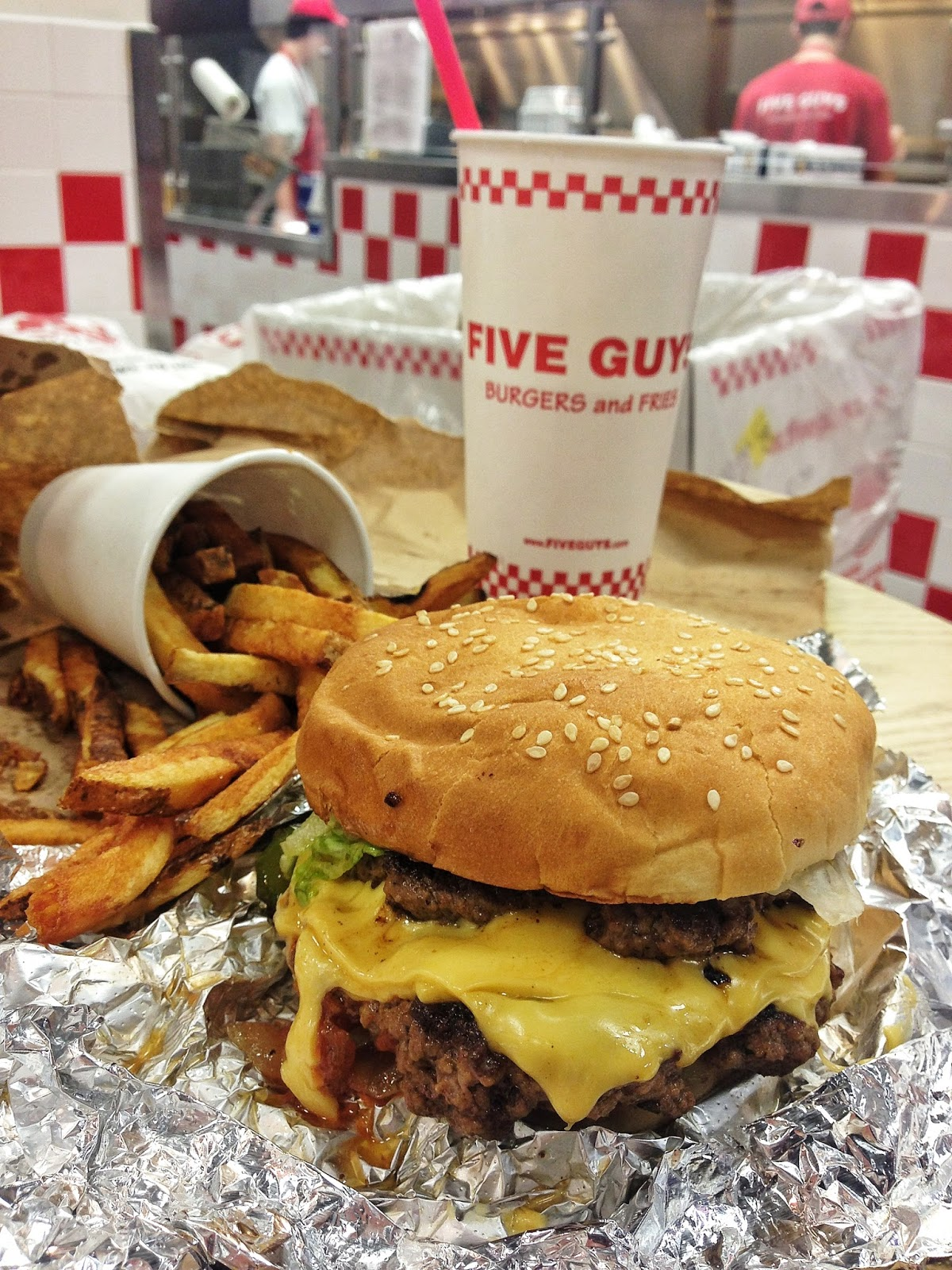 """five guys and a burger Five guys is america's favorite burger chain, according to harris poll's 30th annual equitrend study for the second year in a row, the fast casual burger chain won harris's """"burger brand."""