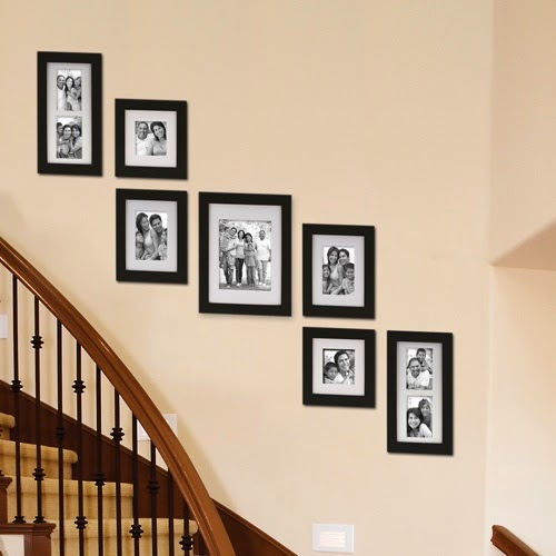 Awesome Creative Staircase Wall Decorating Ideas, Art Frames