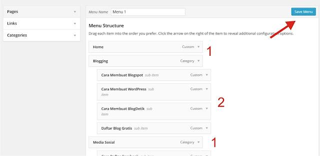 Thay đổi class sub-menu trong wordpress