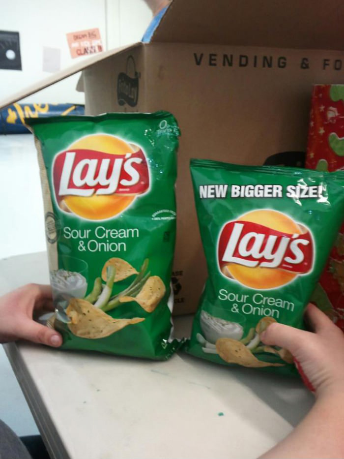 Lay's new bigger size, funny pic, funny photos
