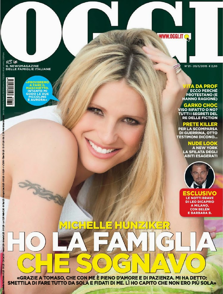 Actress, Singer, Model @ Michelle Hunziker - Oggi Italia, May 2015