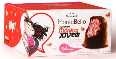 Cacau Show Montebello Turma da Mônica Jovem chocolate marshmallow sabor algodão doce