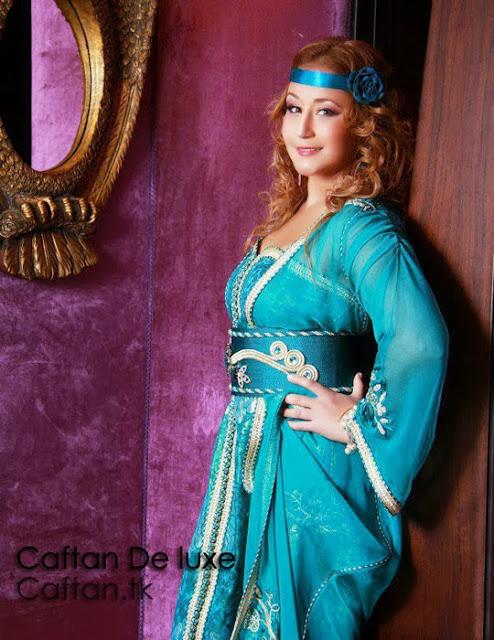 Robe marocaine bleu céleste 2014