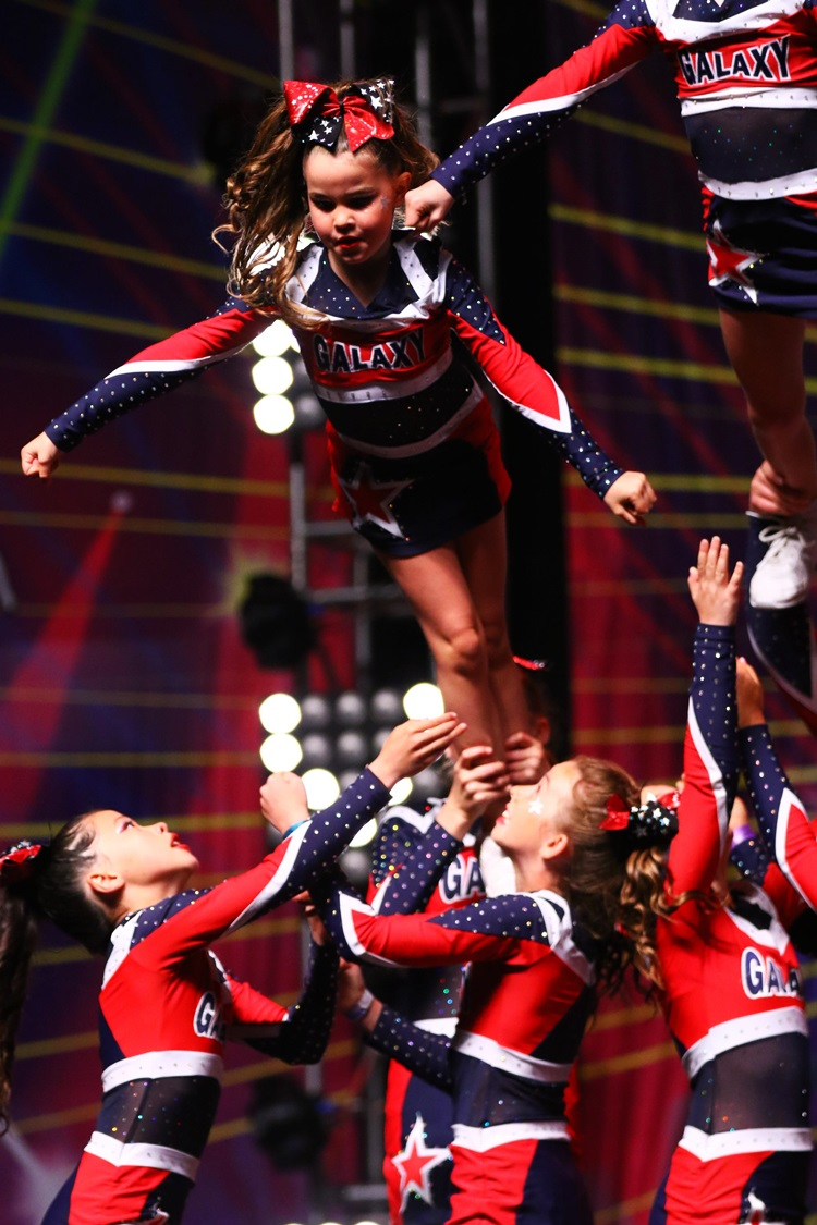 Cheerleading involves a lot of TRUST!