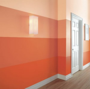 Ombre striped wall