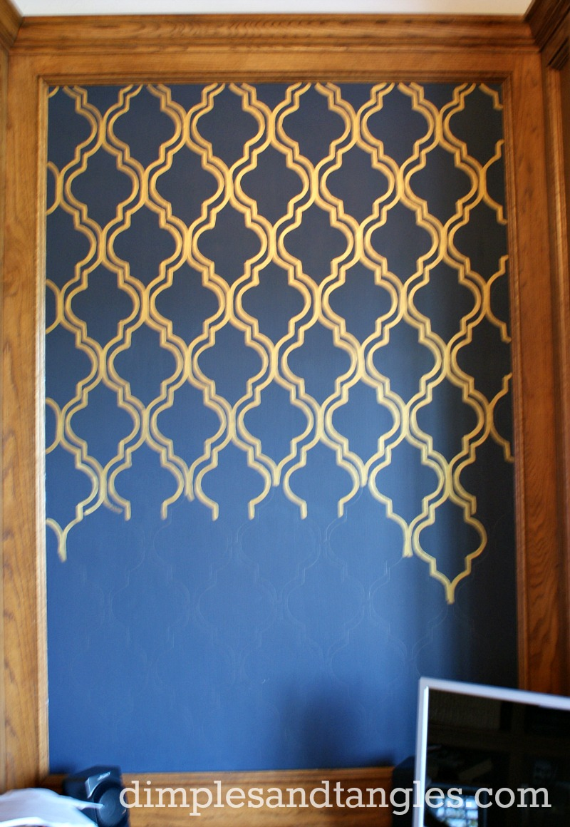 100 Gold Accent Wall Gold Accent Wall Dining Room