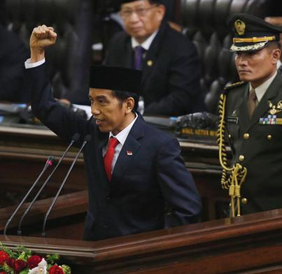 Jokowi Sworn in as Indonesia's New President