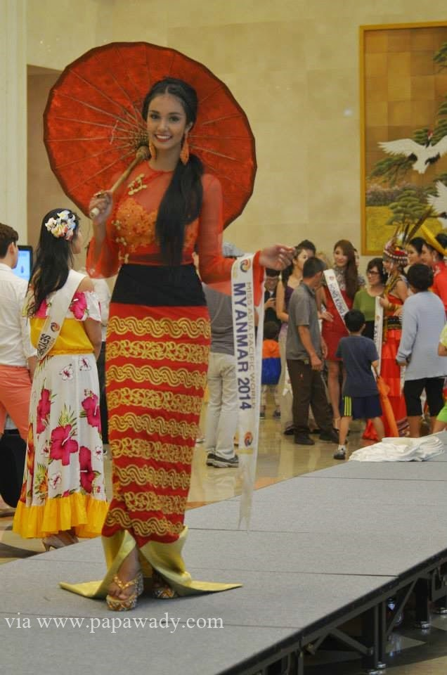 May Myat Noe - The Winner of Miss Asia Pacific in Myanmar Traditional Dress