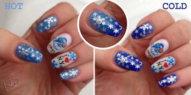 Elite99 Chameleon Temperature Color Change Polish: Blue 5715 christmas nail design snowflake  NY