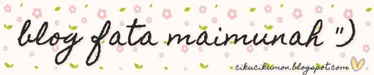 blog Fata Maimunah '')