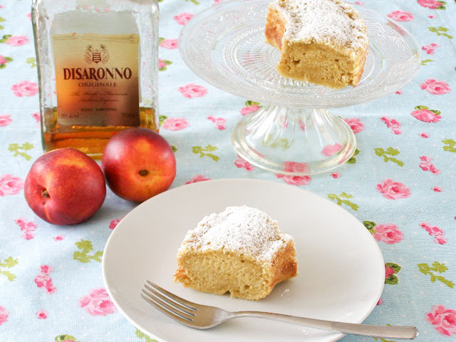 Vegan Peach and Amaretto Cake