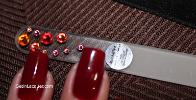 Mont Bleu Crystal Nail File with Swarovski crystals