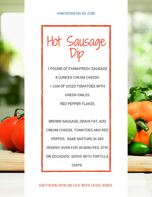 Farm-Fresh Hot  Sausage Dip. Great for Parties and Entertaining