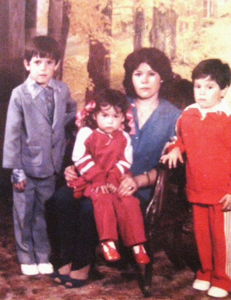 My mother Martha , my brother Gustavo, sister Martha Norma and I, Pueblo Nuevo, Guanajuato 1986