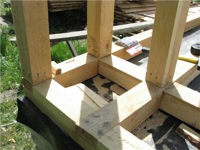 Угловая часть каркаса для дома из соломы