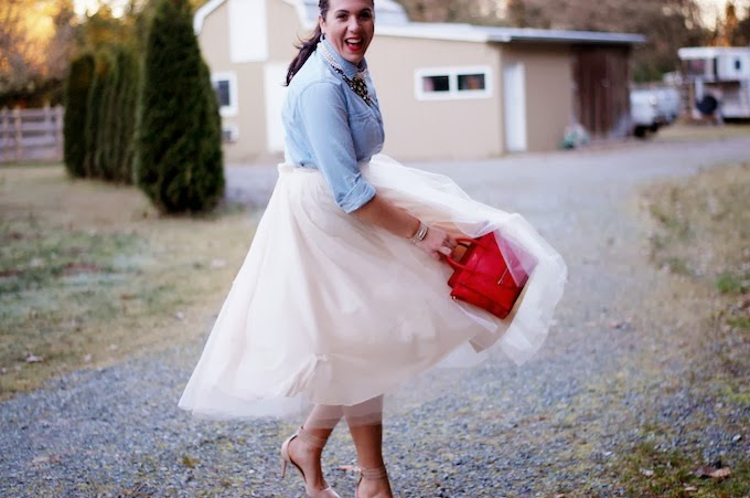 DIY tulle midi skirt