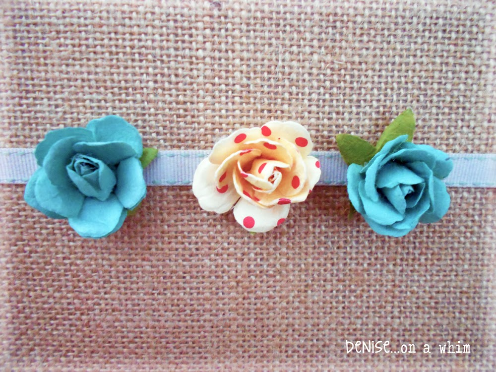 Paper Flowers on a Ribbon via http://deniseonawhim.blogspot.com