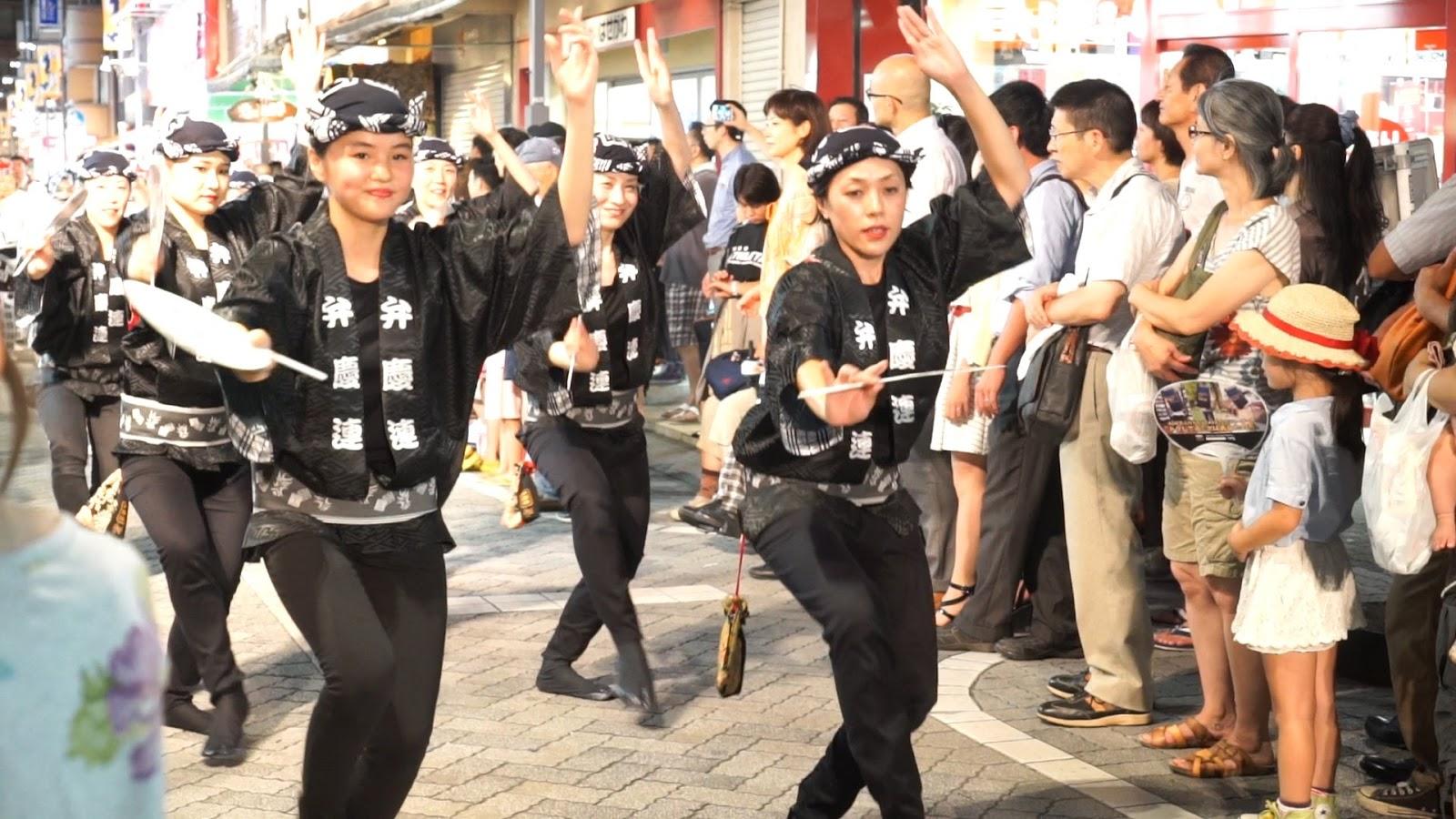 高円寺阿波おどり、ふれおどり、弁慶連の動画を見る