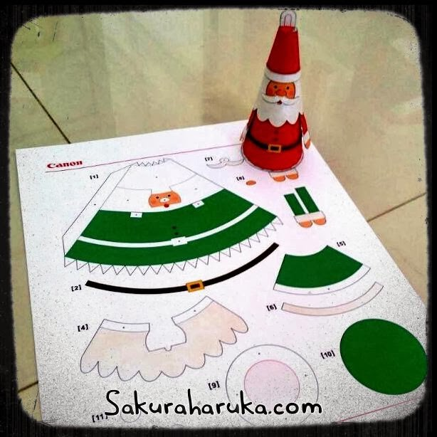 the assembly instructions included on the webpage and each Santa Claus ...