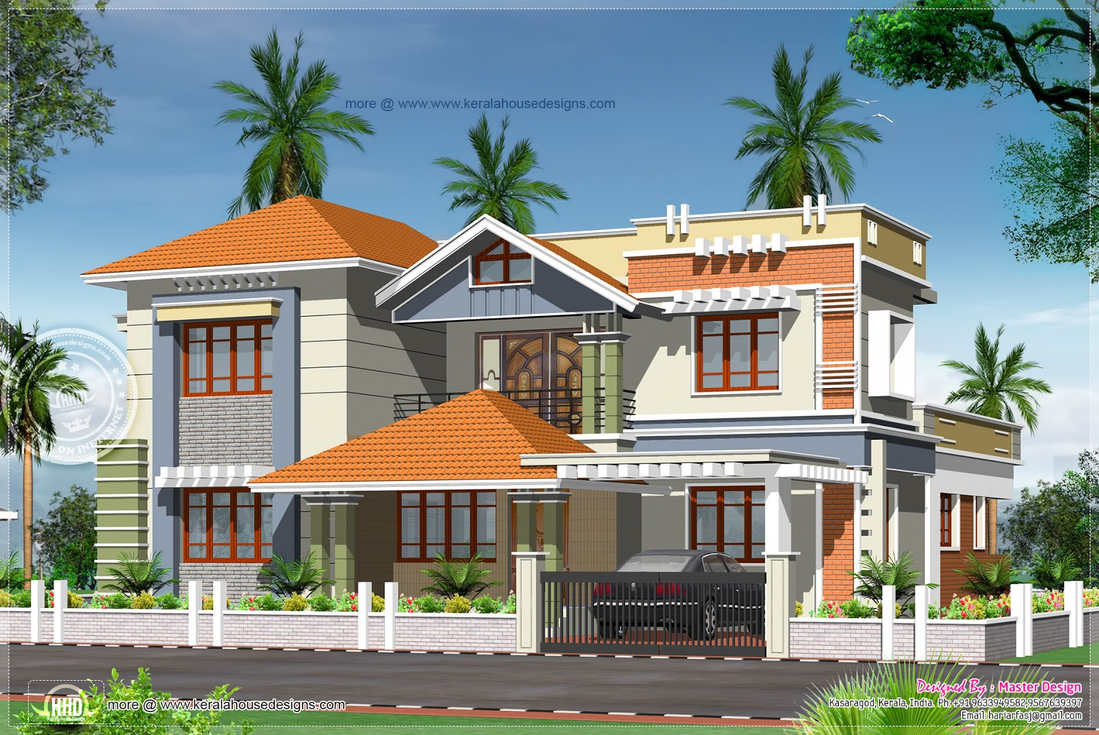 Luxury house design in 3132 square feet - Kerala home design and floor ...