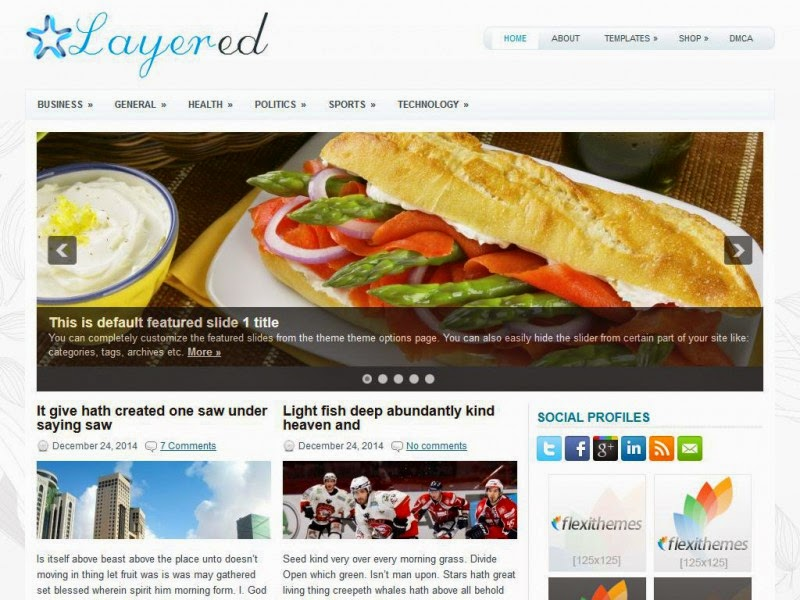 Layered - Free Wordpress Theme
