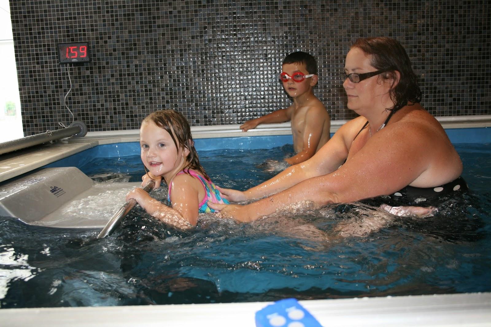 Participants in the Endless Pool at Cornwall Pools Swimathon 2014, benefiting the Cornwall Air Ambulance.