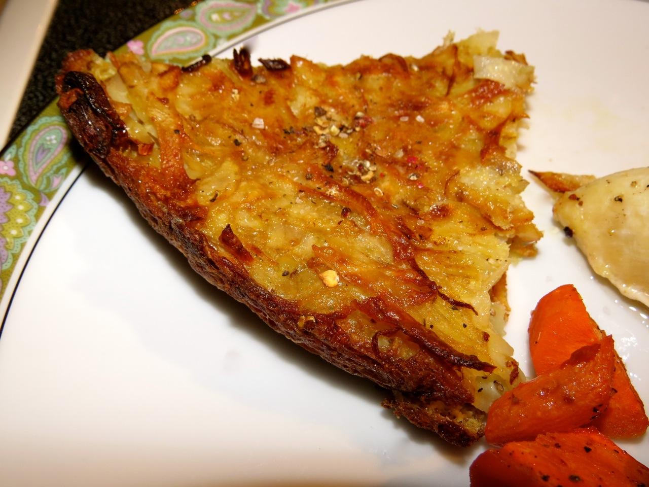 Food & Wine Potato Kugel with Fried Shallots...