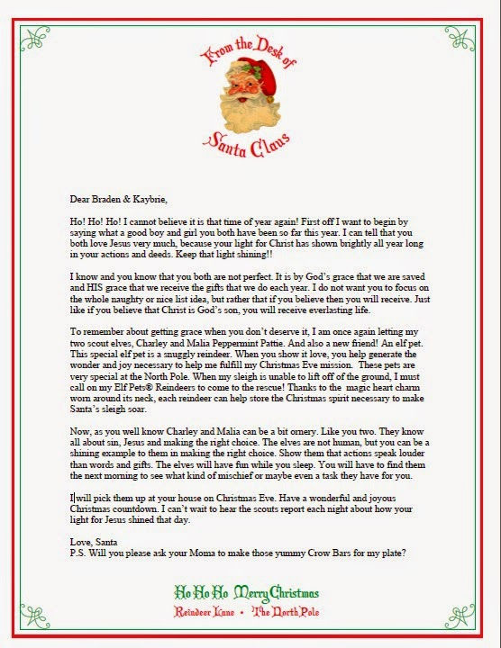 Elf On Shelf Return Letters