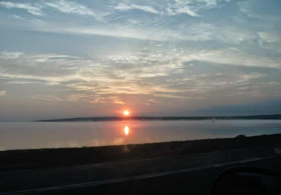 sunrise over keweenaw bay
